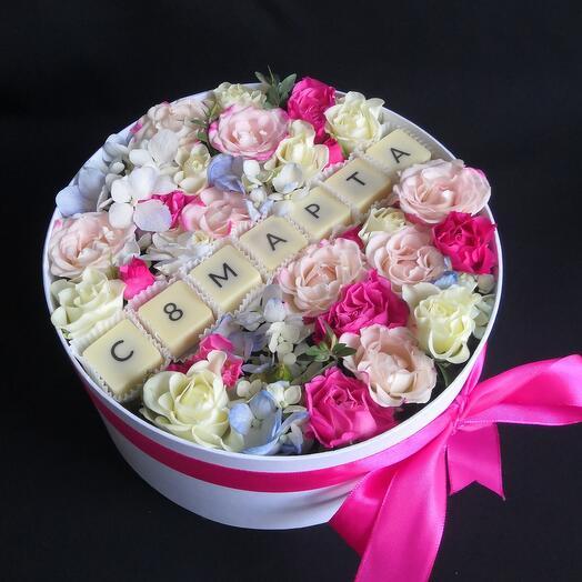 Premium: Бельгийский шоколад и цветы