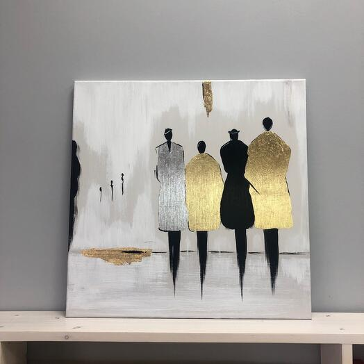 """People"" author's handmade painting"