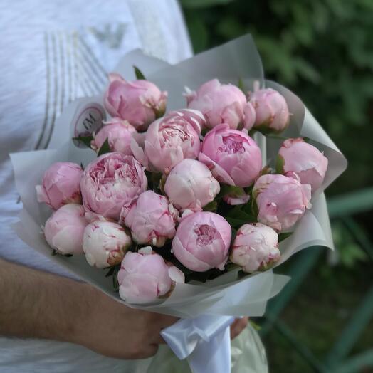 Букет из розовых пионов Сара
