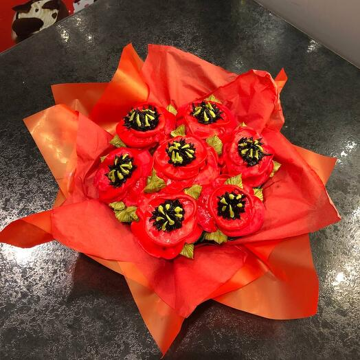 BOUQUET OF 7 FLOWER CUPCAKES-MAKI CHEESECAKES