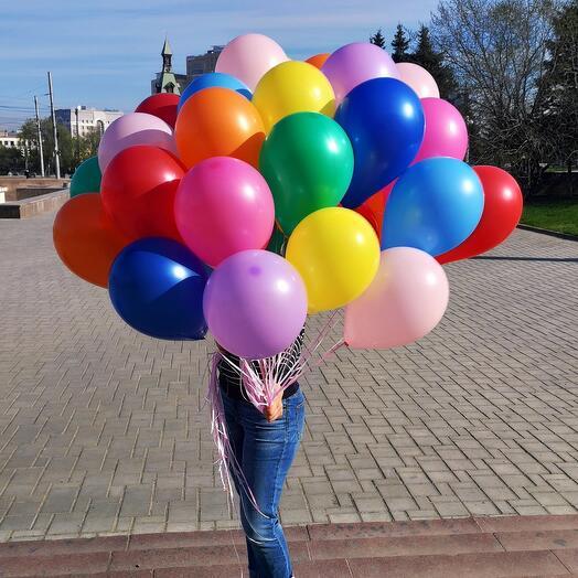 19 гелиевых шаров