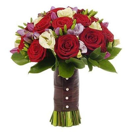 Красный свадебный букет «Прованс»