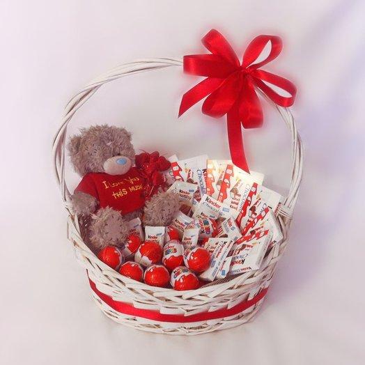 Sweet basket: flowers to order Flowwow