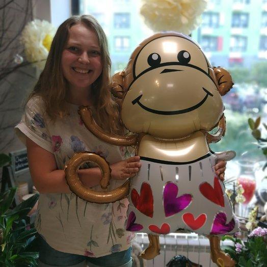 Влюблённая обезьянка : букеты цветов на заказ Flowwow