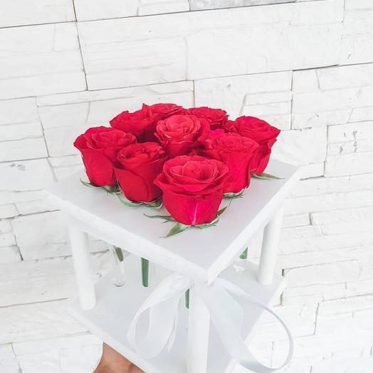Розы в пробирках 9 шт