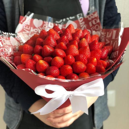Клубничный букет «эден»: букеты цветов на заказ Flowwow