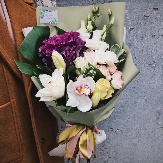 "Букет ""Зеленый миг"": букеты цветов на заказ Flowwow"