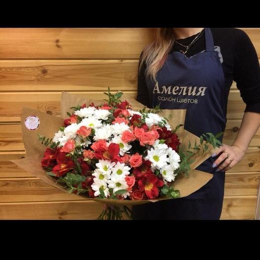 Объемный микс🌹🌺: букеты цветов на заказ Flowwow
