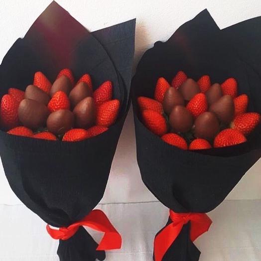 Клубничный букет «Нью-Джерси»: букеты цветов на заказ Flowwow