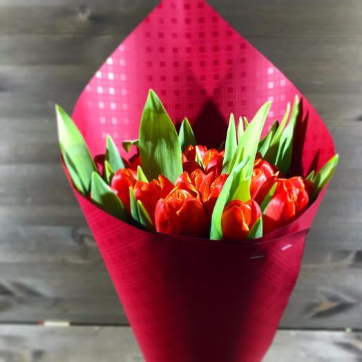 15 тюльпанов: букеты цветов на заказ Flowwow