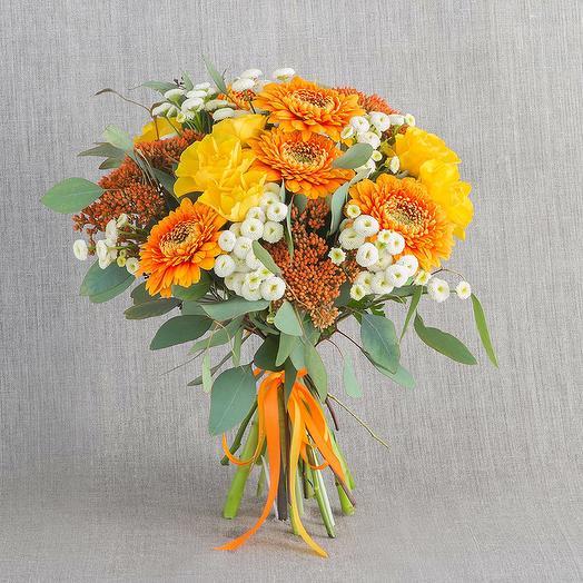 """Компактный букет """"Янтарь"""": букеты цветов на заказ Flowwow"""