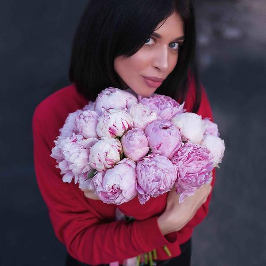 """Букет """"19 Пионов розовых"""": букеты цветов на заказ Flowwow"""