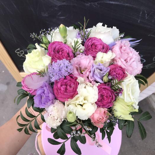 Коробка чудесная 💜: букеты цветов на заказ Flowwow