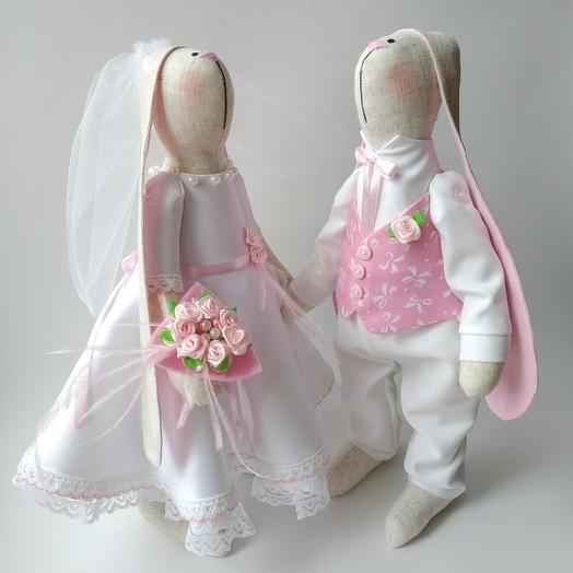 Свадебные зайки: букеты цветов на заказ Flowwow