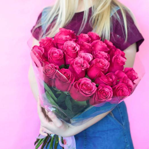 25 роз сорта Topaz: букеты цветов на заказ Flowwow