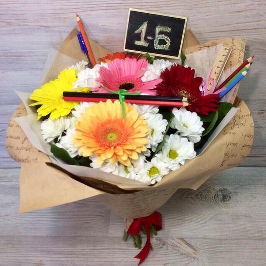 Букет на 1 Сентября 4: букеты цветов на заказ Flowwow