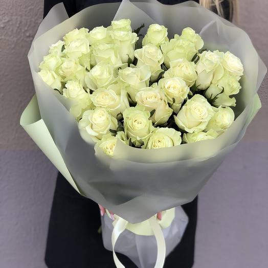 Букет Лайм из белых роз