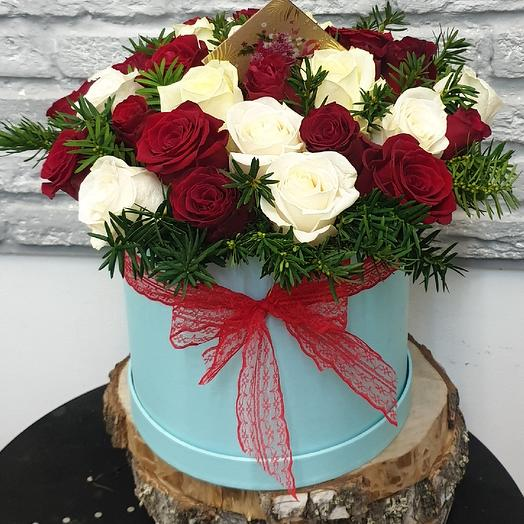 Коробка классическая: букеты цветов на заказ Flowwow