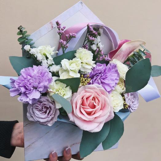 Цветочный конверт: букеты цветов на заказ Flowwow