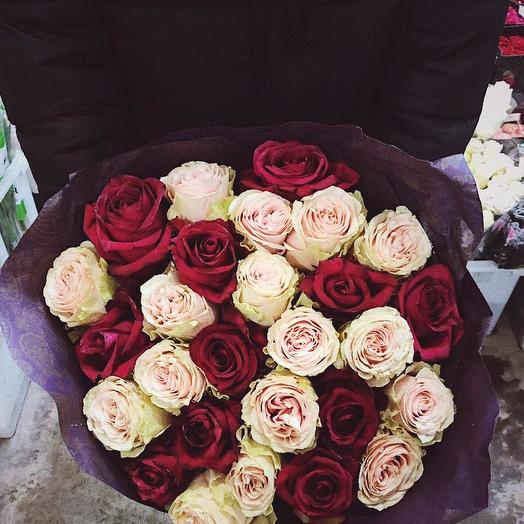 Эквадорские розы 39 шт: букеты цветов на заказ Flowwow