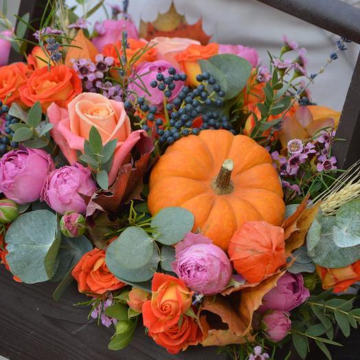 """Ящик с цветами """"Болдинская осень"""": букеты цветов на заказ Flowwow"""