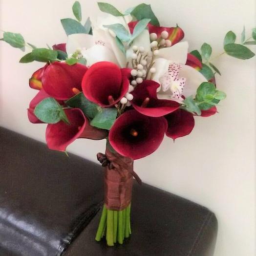 """Свадебный букет """"Оттенок страсти"""": букеты цветов на заказ Flowwow"""