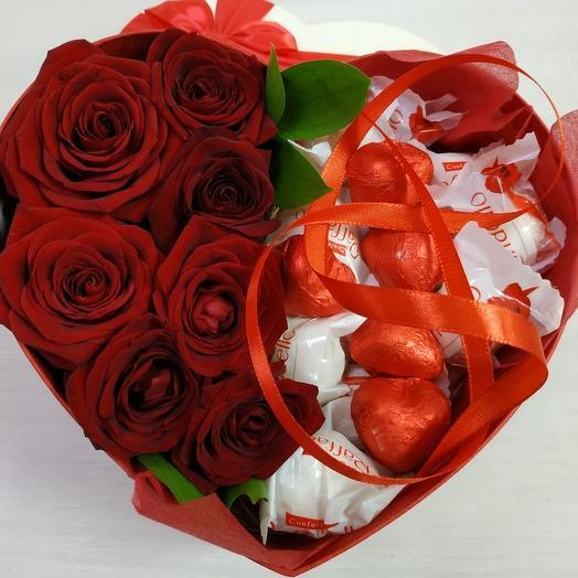 Сердце любви L: букеты цветов на заказ Flowwow