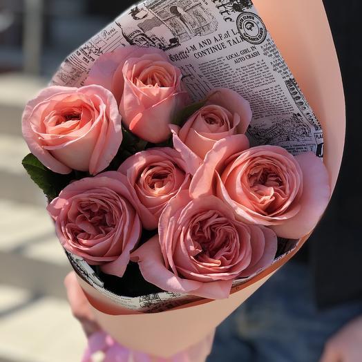 Розы пионовидные 70см