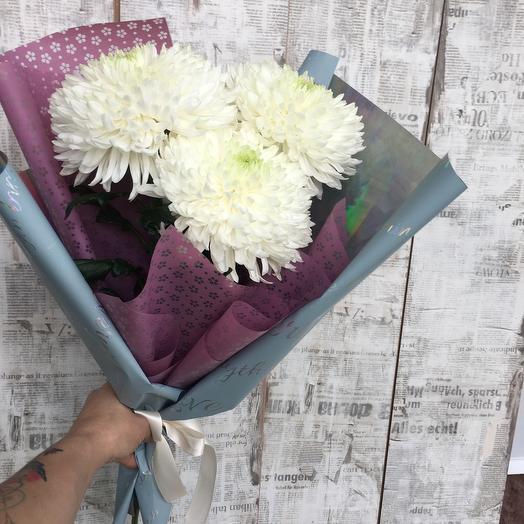 Букет из одноголосых хризантем: букеты цветов на заказ Flowwow