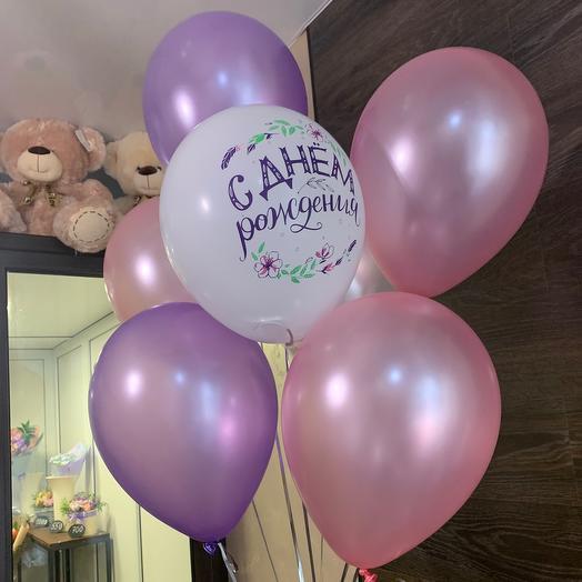 Воздушные шары с днём рождения 🌟