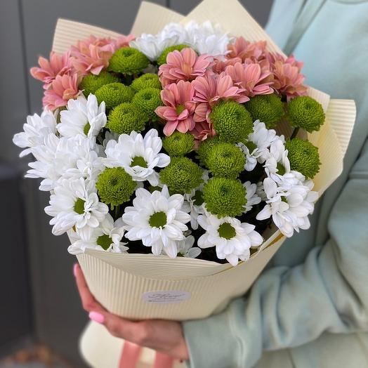 Букет из хризантем Эйприл