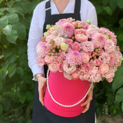 Коробка с цветами Для любимой
