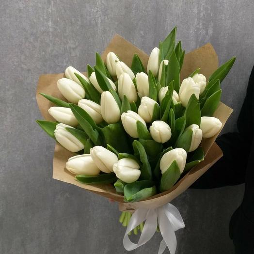 Букет белых тюльпанов 2