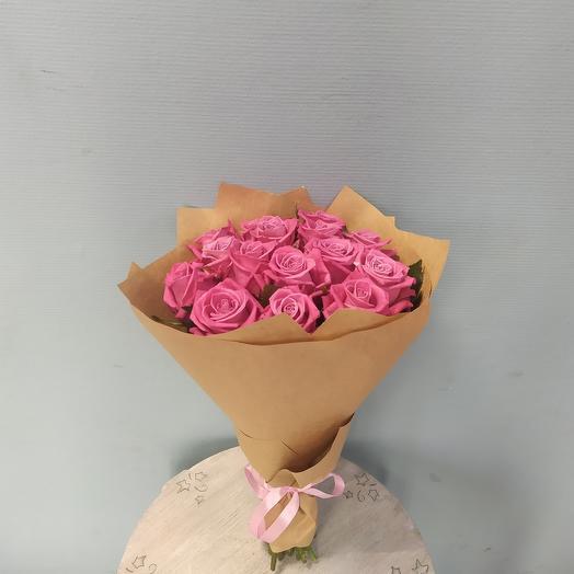 Букет из 15 подмосковных роз