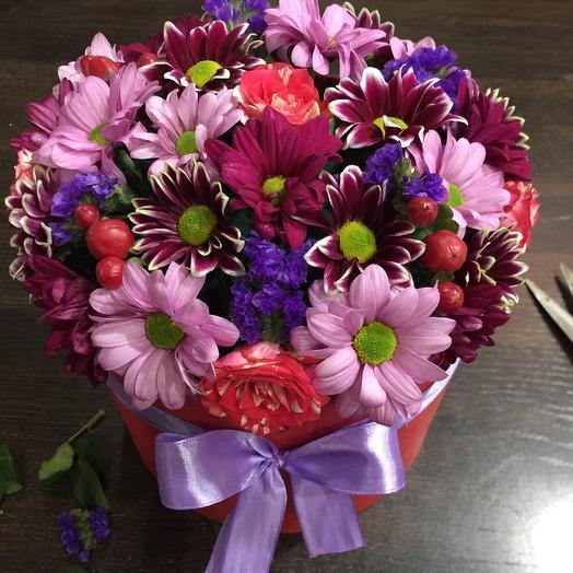 Цветы в коробке 0008567