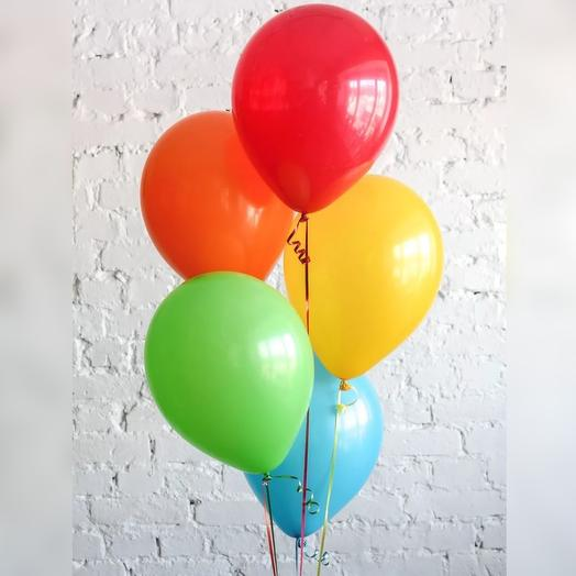 Связка из 5 разноцветных шаров