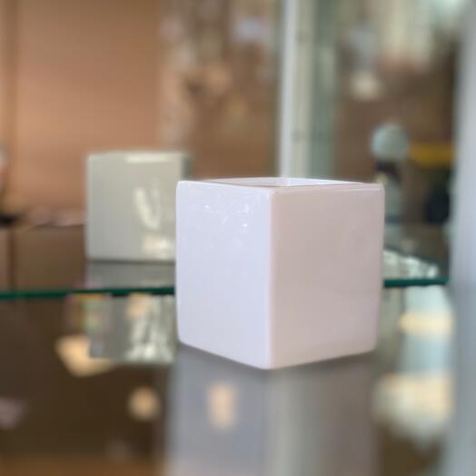 Кашпо керамическое квадрат