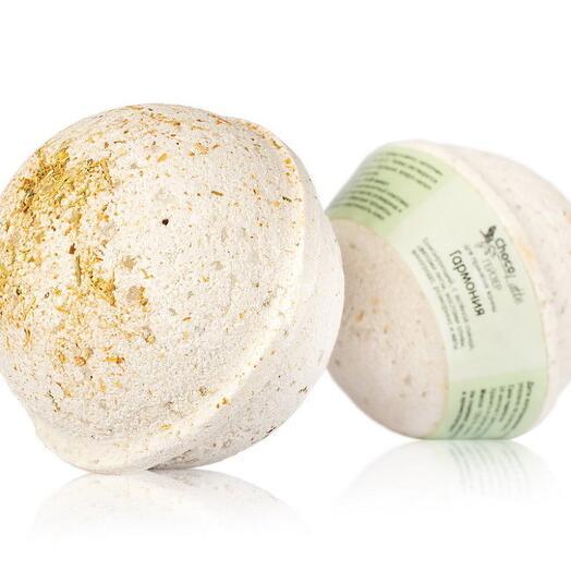 ChocoLatte Гейзер (бурлящий шар) фито для ванн ГАРМОНИЯ тонизирующий с морской солью, глиной и масла