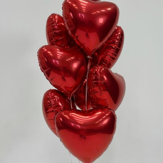 Набор шаров из 9 сердец