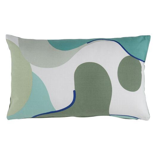 Подушка декоративная из хлопка мятного цвета с авторским принтом из коллекции freak fruit, 30х50 см  Tkano TK20-CU0009