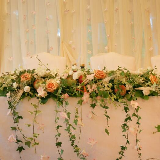 Оформление свадьбы «крем»