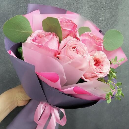 💖Букет Пионовидных роз Пинк о Хара💖