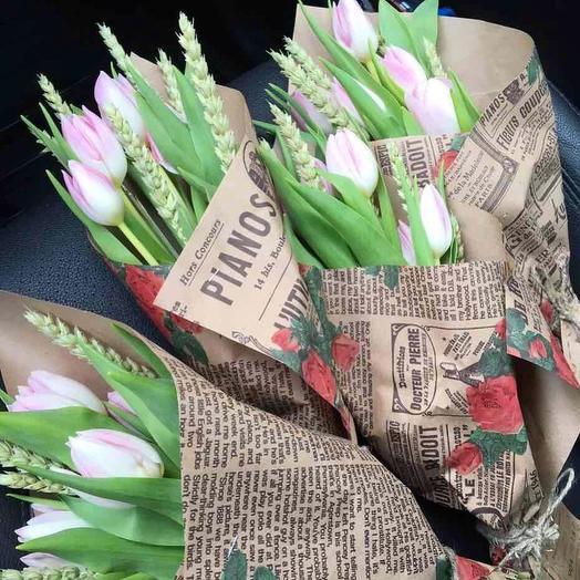 Весна(желаемый цвет тюльпанов уточняйте): букеты цветов на заказ Flowwow