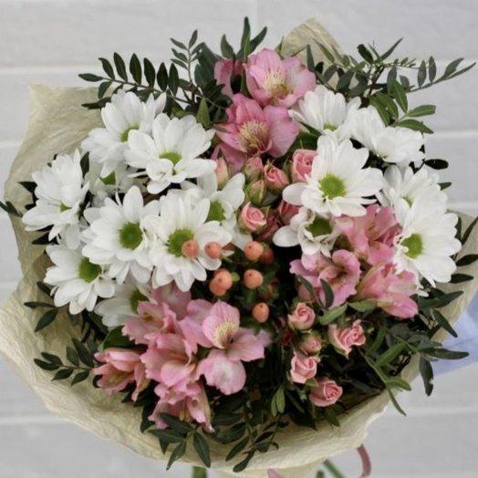 Букет из хризантемы и альстрмерии): букеты цветов на заказ Flowwow