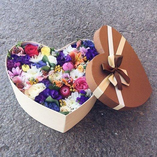 Любящее сердце: букеты цветов на заказ Flowwow