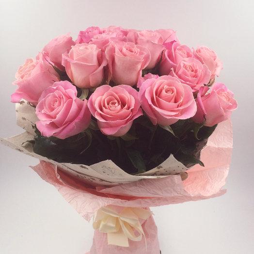 25 Розовых Эквадорских роз: букеты цветов на заказ Flowwow