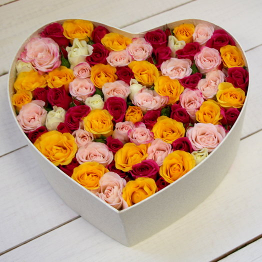 "Сердце с розами ""Признание"": букеты цветов на заказ Flowwow"