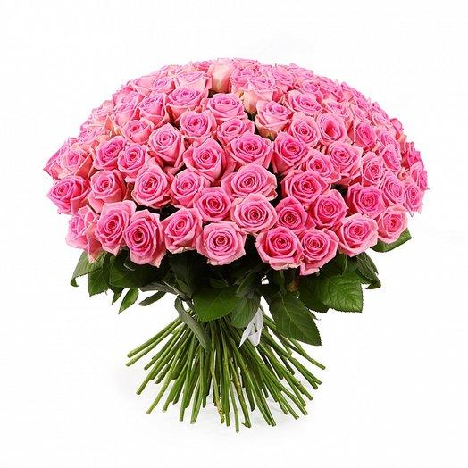 101 розовая местная роза 50 см: букеты цветов на заказ Flowwow