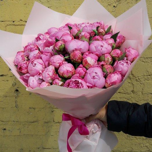 Бует из пионов: букеты цветов на заказ Flowwow