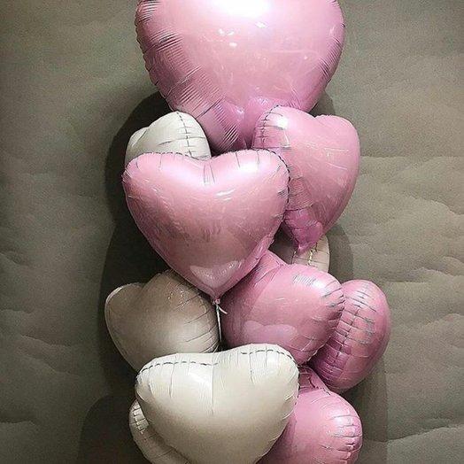 "Воздушная композиция ""Моё нежное сердце"": букеты цветов на заказ Flowwow"